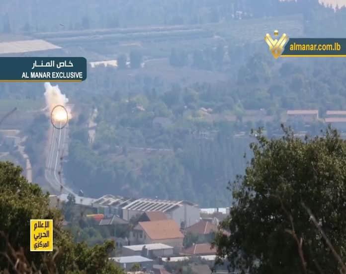 Un extrait de la vidéo de l'opération de représailles du Hezbollah contre les forces israéliennes, diffusée par la chaine Al Manar. Source: Al Manar