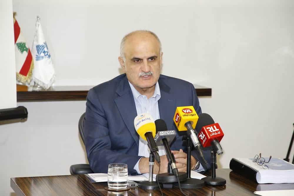Le Ministre des Finances Ali Hassan Khalil lors de la conférence de presse qui s'est tenue le mercredi 18 septembre. Crédit Photo: Dalati & Nohra