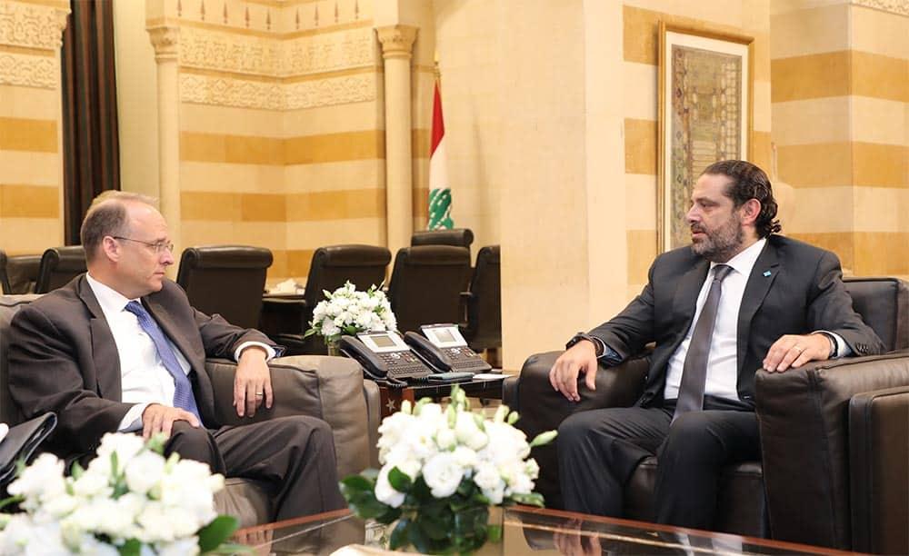 Marshall Billingslea en compagnie de Saad Hariri. Crédit Photo: Dalati & Nohra