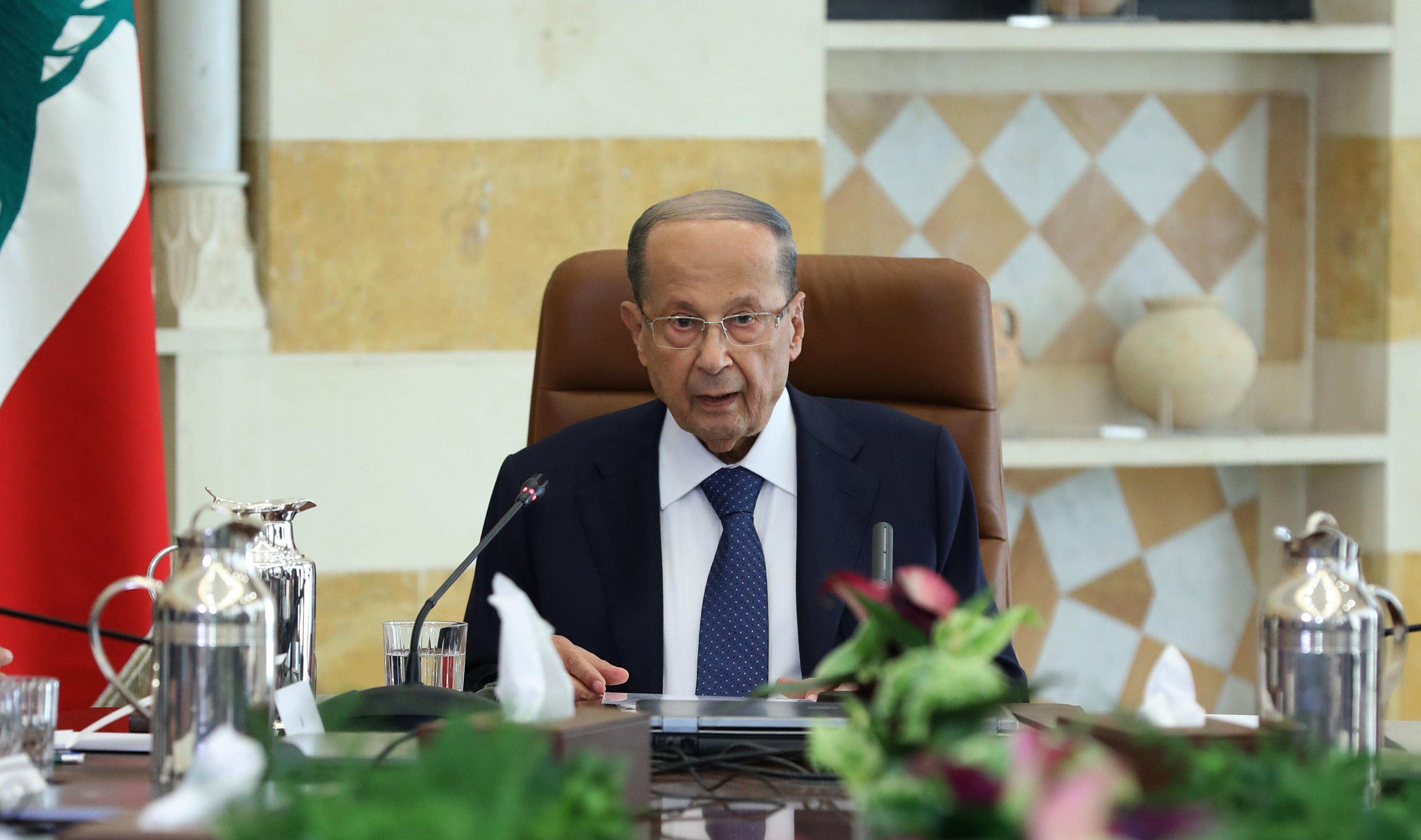 Le chef de l'état lors du Sommet Economique de Baabda. Crédit Photo: Dalati & Nohra
