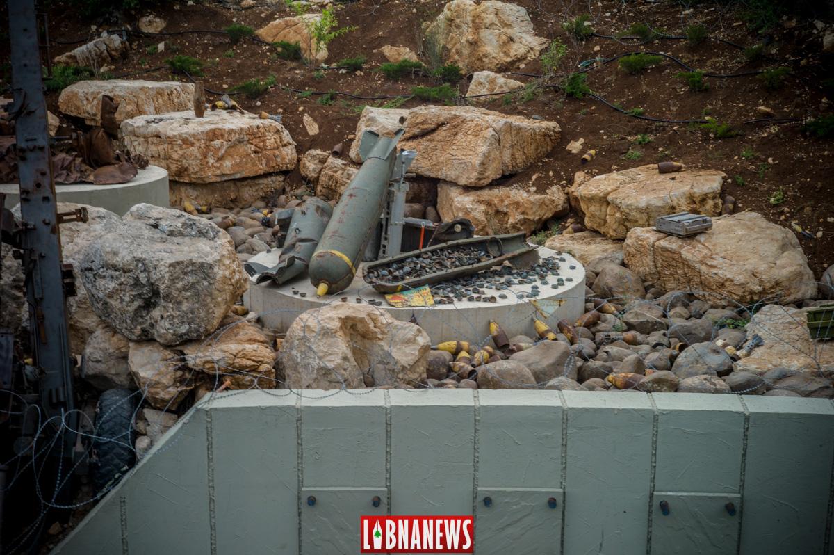 Matériel israélien détruit lors du conflit avec le Hezbollah ici des bombes à fragmentation non explosées, Musée de Mlita. Crédit Photo: Libnanews.com