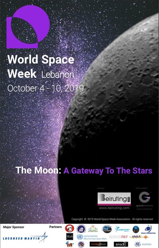 Poster World Space Week Lebanon