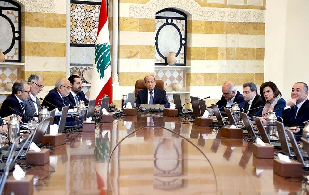 Le Conseil des Ministres réunis ce lundi 21 octobre 2019. Crédit Photo: Dalati & Nohra