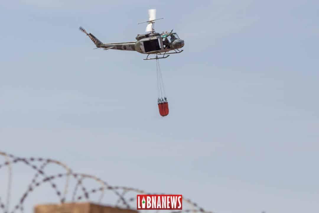 Un hélicoptère de l'Armée Libanaise. Crédit Photo: François el Bacha pour Libnanews.com. tous droits réservés.
