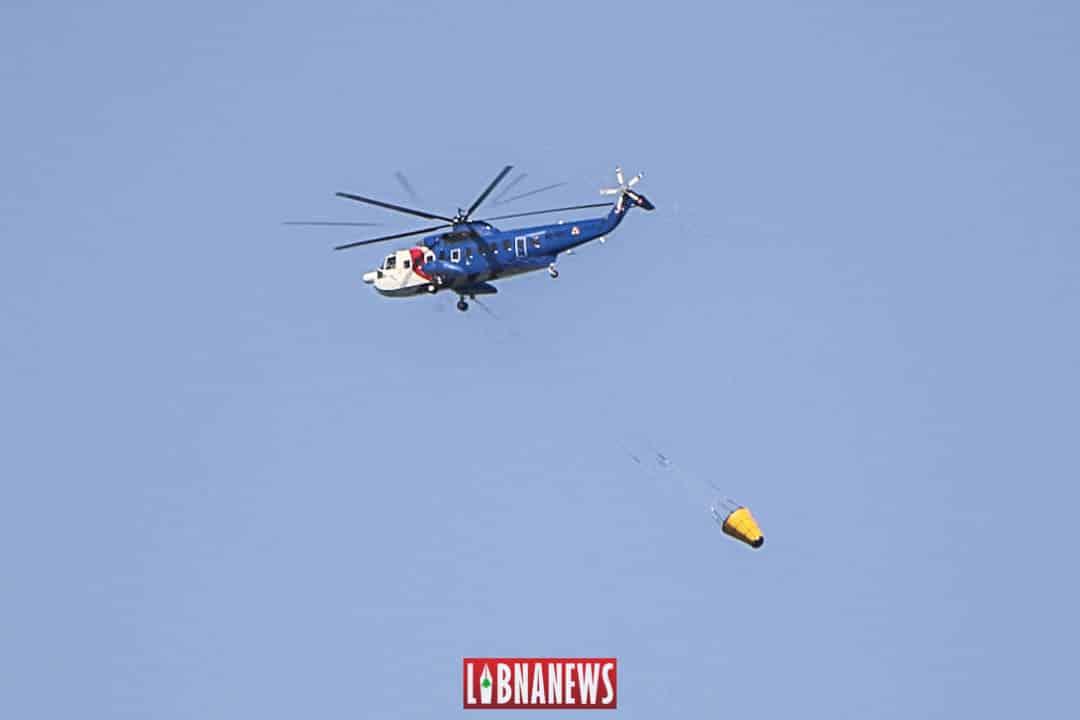 Archives: Un Sikorsky volant en 2014 dans le ciel libanais. Crédit Photo: François el Bacha pour Libnanews.com. Tous droits réservés.
