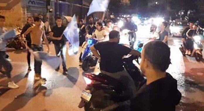 Les sympathisants du Premier Ministre sortant tentant de rejoindre la place Riad el Solh. Source Photo:NNA