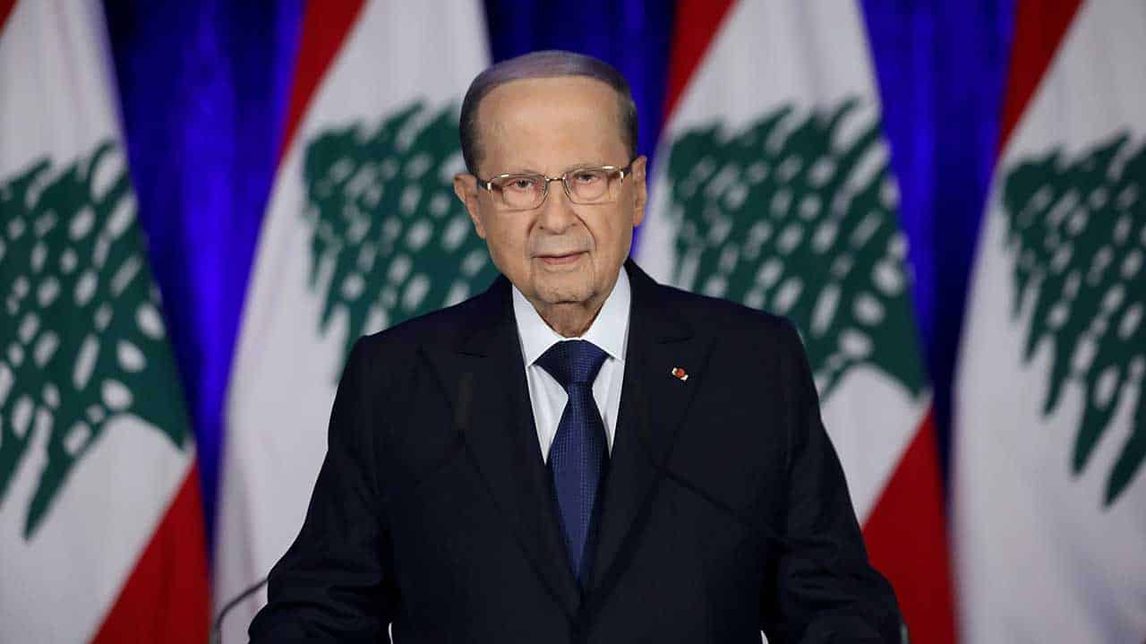 Le Président de la République, le Général Michel Aoun à l'occasion du 76ème anniversaire de l'indépendance du Liban. Crédit Photo: Dalati & Nohra