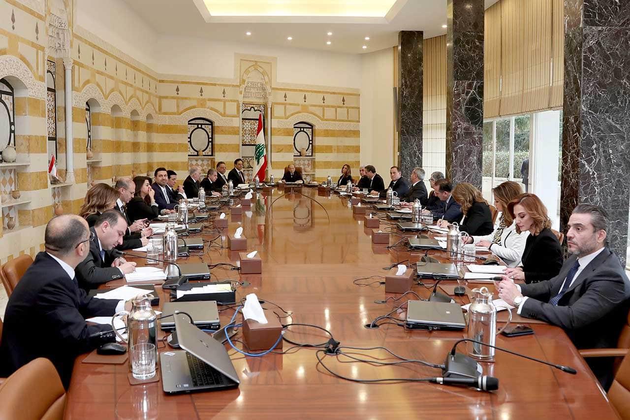 Le Premier Conseil des Ministres du gouvernement Diab. Crédit Photo: Dalati & Nohra