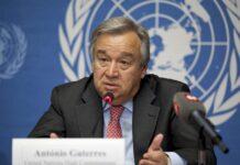 Le secrétaire général de l'ONU Antonio Guterres. Source Photo: Wikipedia