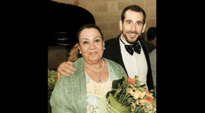Le Baryton Fady Jeanbart avec sa maman