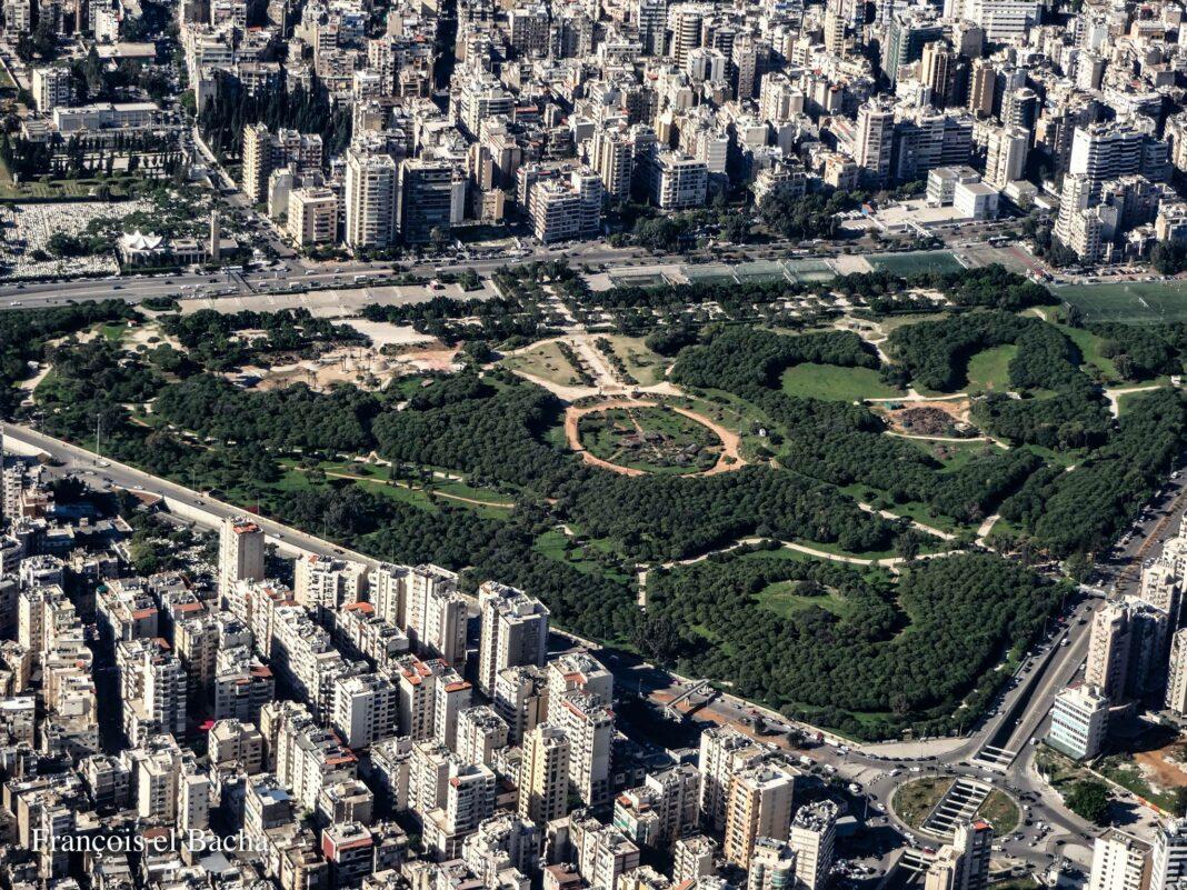 Vue aérienne de la Forêt des Pins. Crédit Photo: Francois el Bacha pour Libnanews.com. Tous droits réservés.