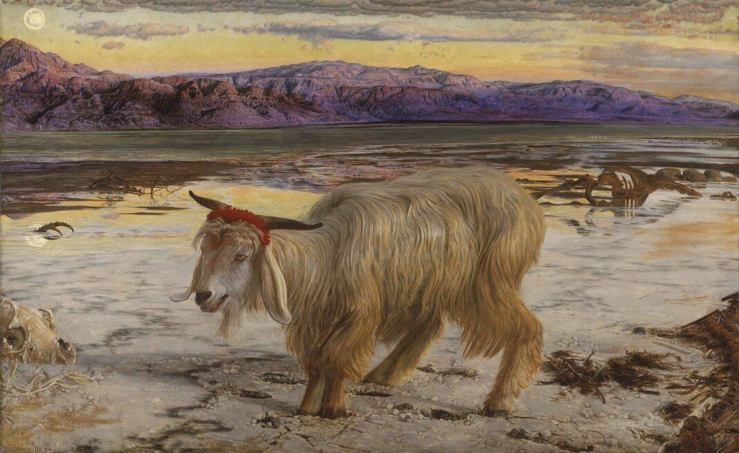 The Scapegoat (Le Bouc émissaire), tableau de William Holman Hunt, 1854-1856
