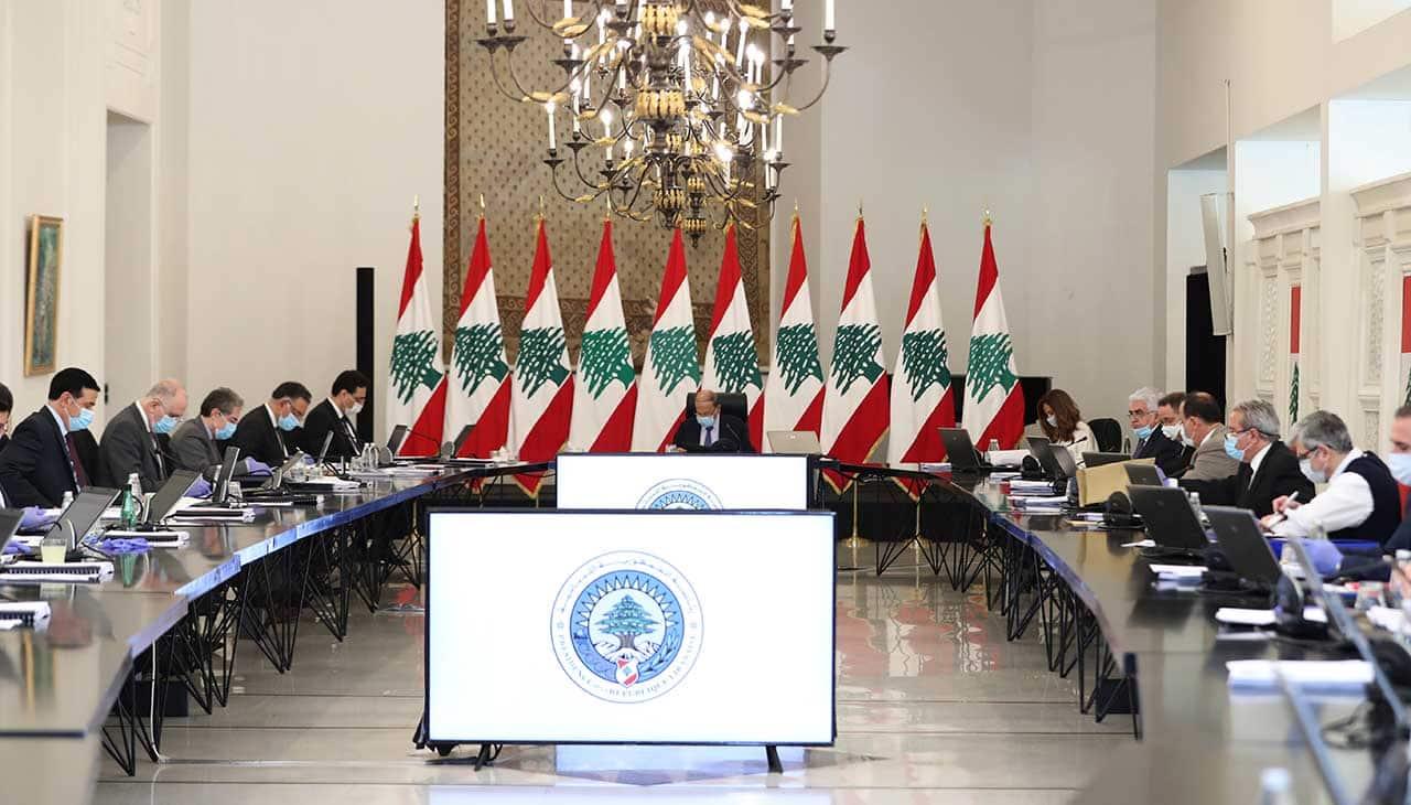 Le conseil des ministres de ce mardi 5 mai 2020. Crédit Photo: Dalati & Nohra