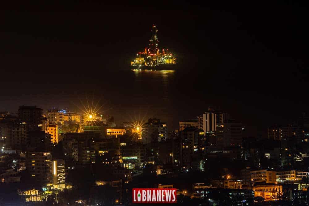 Le Tungsten Explorer se préparant à quitter le Liban. Crédit Photo Francois el Bacha pour Libnanews.com