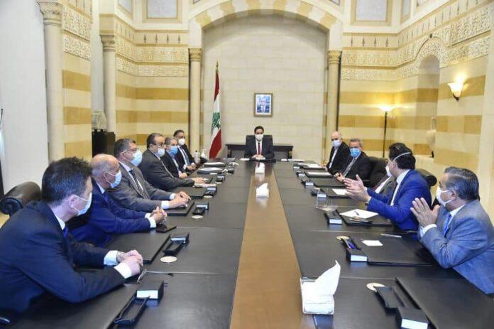 La réunion entre le syndicat des agents de change et le Premier Ministre. Crédit Photo: NNA