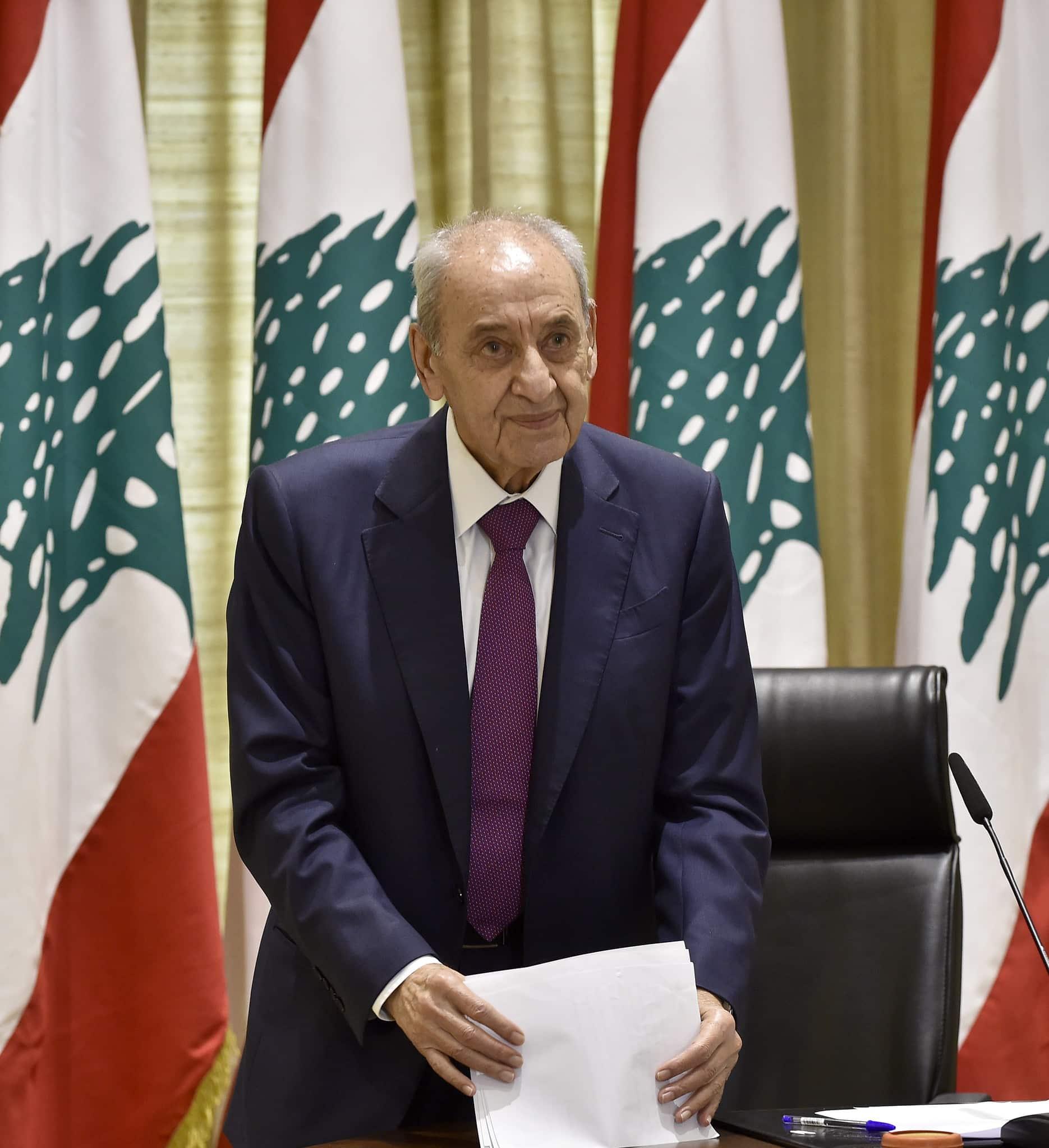 Le Président de la Chambre, Nabih Berri
