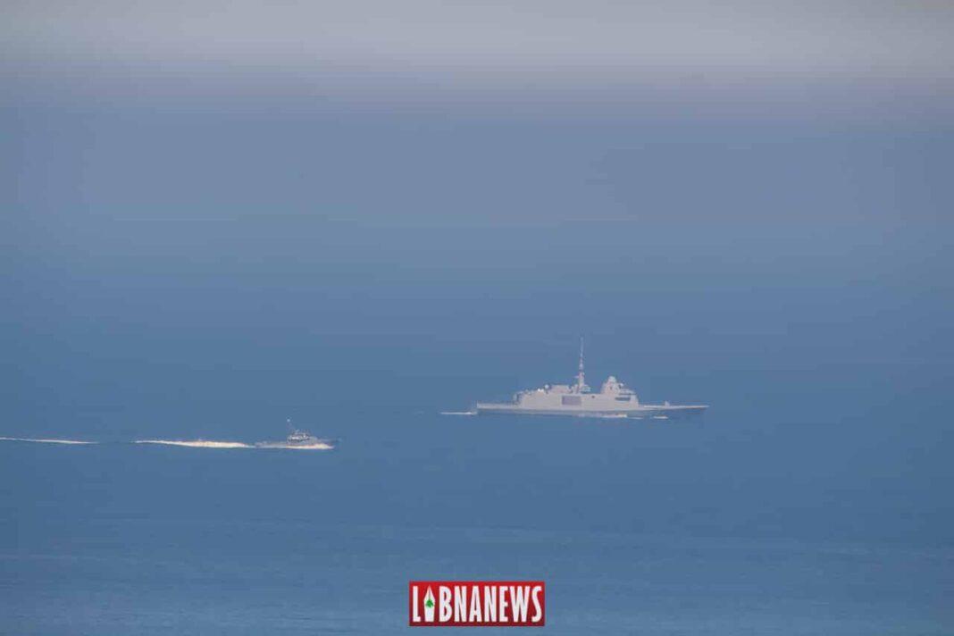 La Frégate la Provence au large des côtes libanaises. Crédit Photo: Francois el Bacha pour libnanews.com
