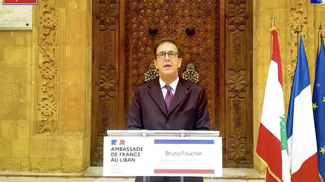 L'ancien Ambassadeur de France au Liban, Bruno Foucher