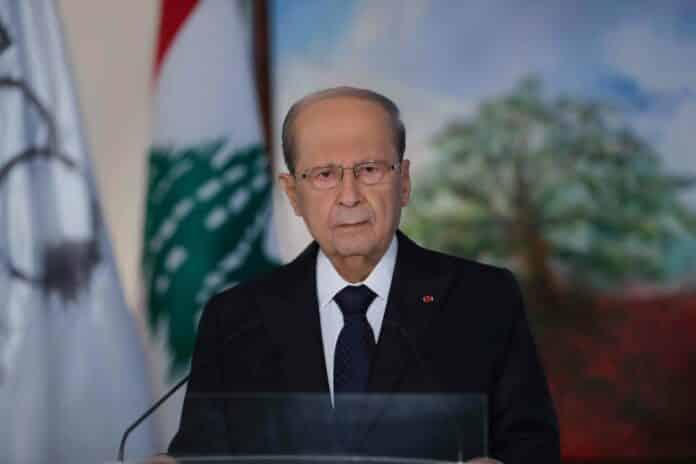 Le chef de l'état, le président de la république, le général Michel Aoun, à l'occasion du centenaire du Grand Liban