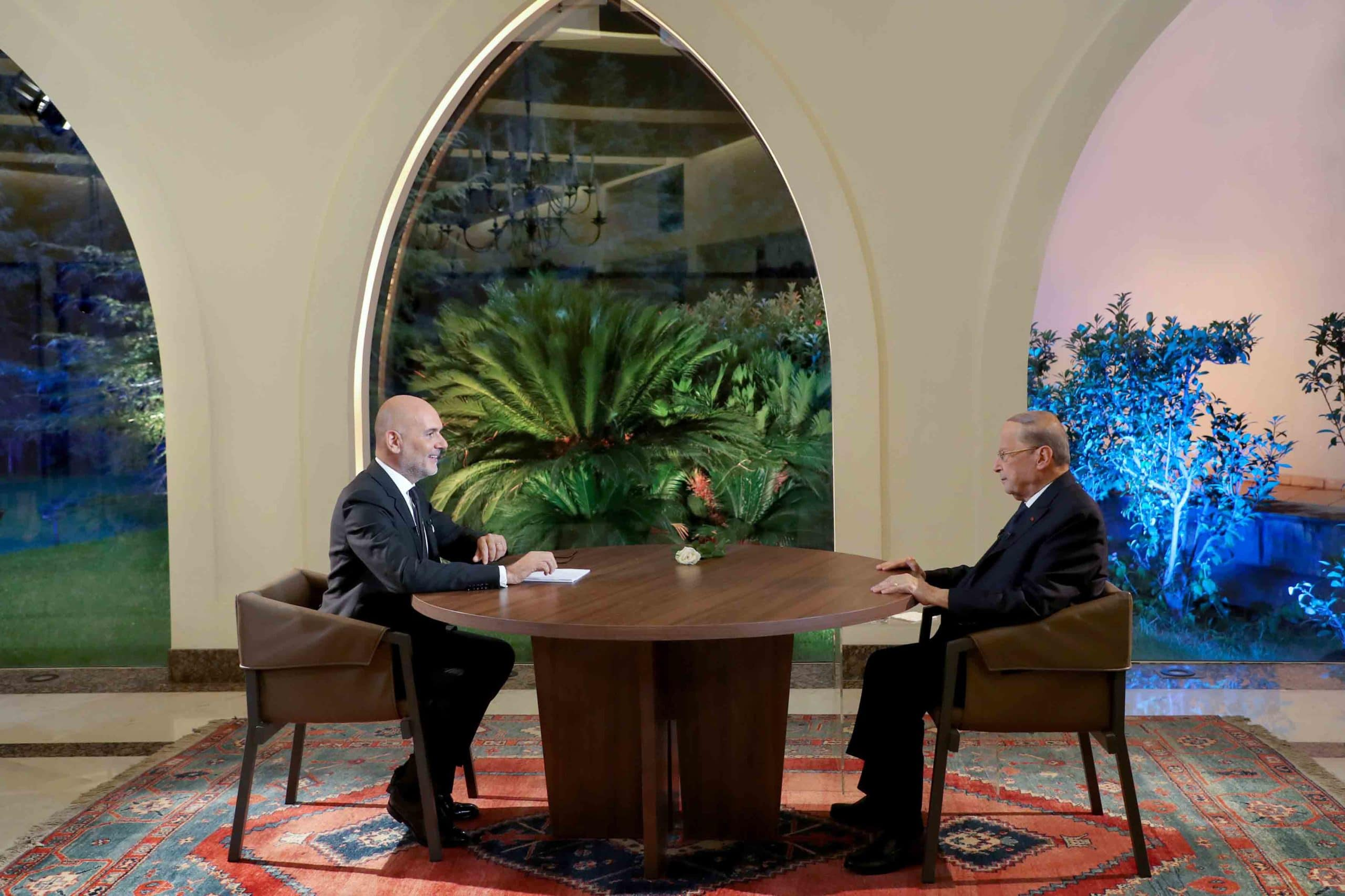 Dalati Interview Ofthe Pr.michel Aoun On The Occasion Of Centenary Of The Great Lebanan With Mr. Rikardo Karam Scaled