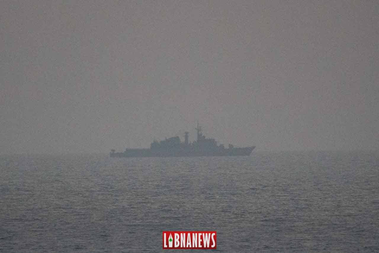 Un navire de la composante maritime de la FINUL, le jour de l'explosion du 4 août 2020.