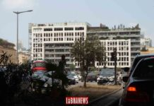 The An Nahar building ravaged by the explosion of August 4, 2020. Photo credit: Francois el Bacha for Libnanews.com