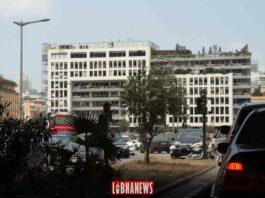 L'immeuble du An Nahar ravagé par l'explosion du 4 août 2020. Crédit Photo: Francois el Bacha pour Libnanews.com