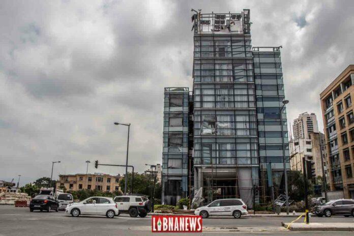 Le siège local de la CMA CGM à Beyrouth dévasté par l'explosion du 4 août 2020. crédit photo: François el Bacha pour libnanews.com. Tous droits réservés.