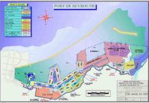 Carte du Port de Beyrouth avant l'explosion du 4 août 2020.