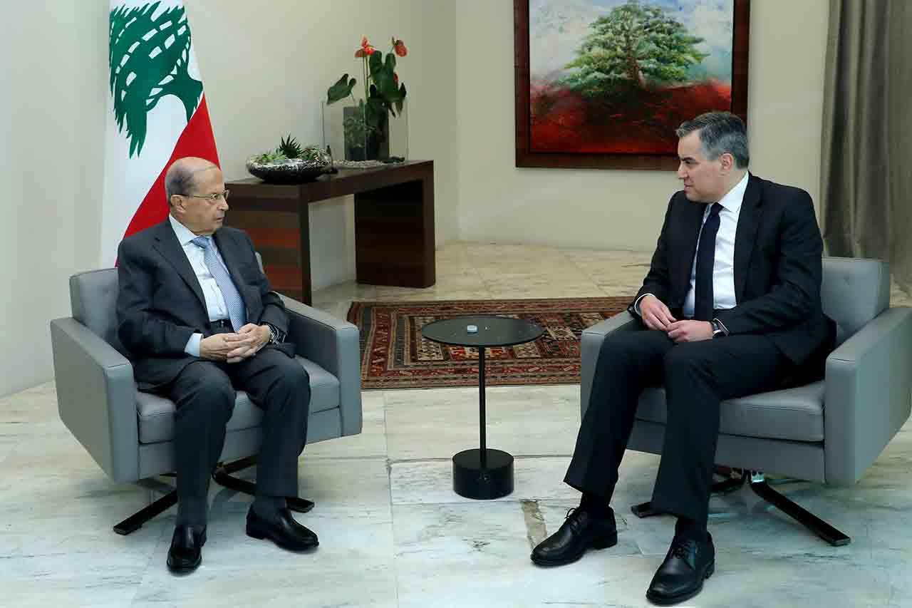 Le premier ministre désigné Mustapha Adib en compagnie du Président de la République, le Général Michel Aoun. Crédit photo: Dalati & Nohra