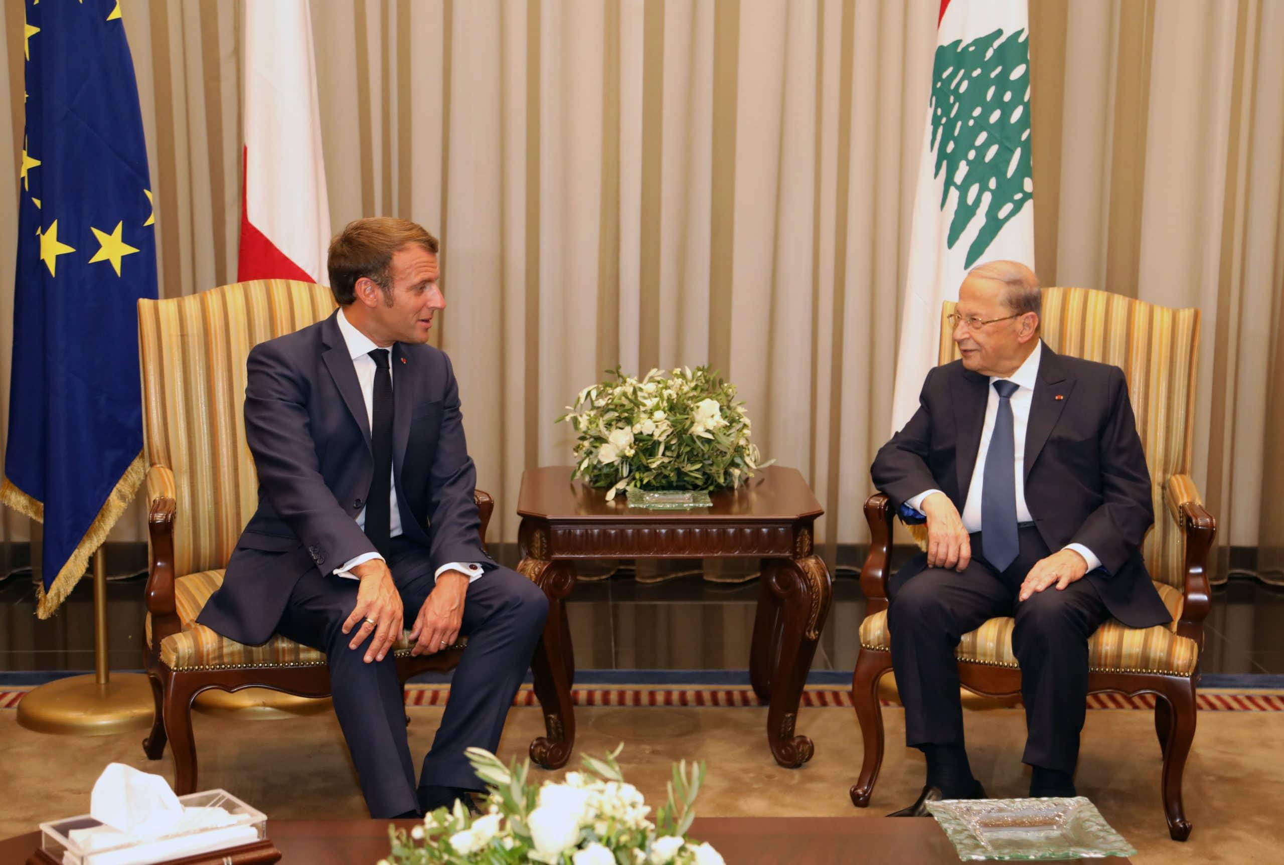 Dalati Aoun Macron Aeroport 1 Scaled