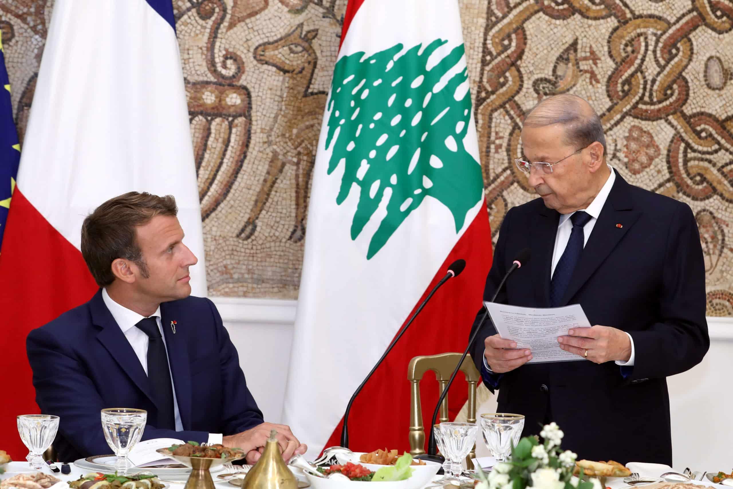 Dalati Aoun Macron Dejeuner Scaled