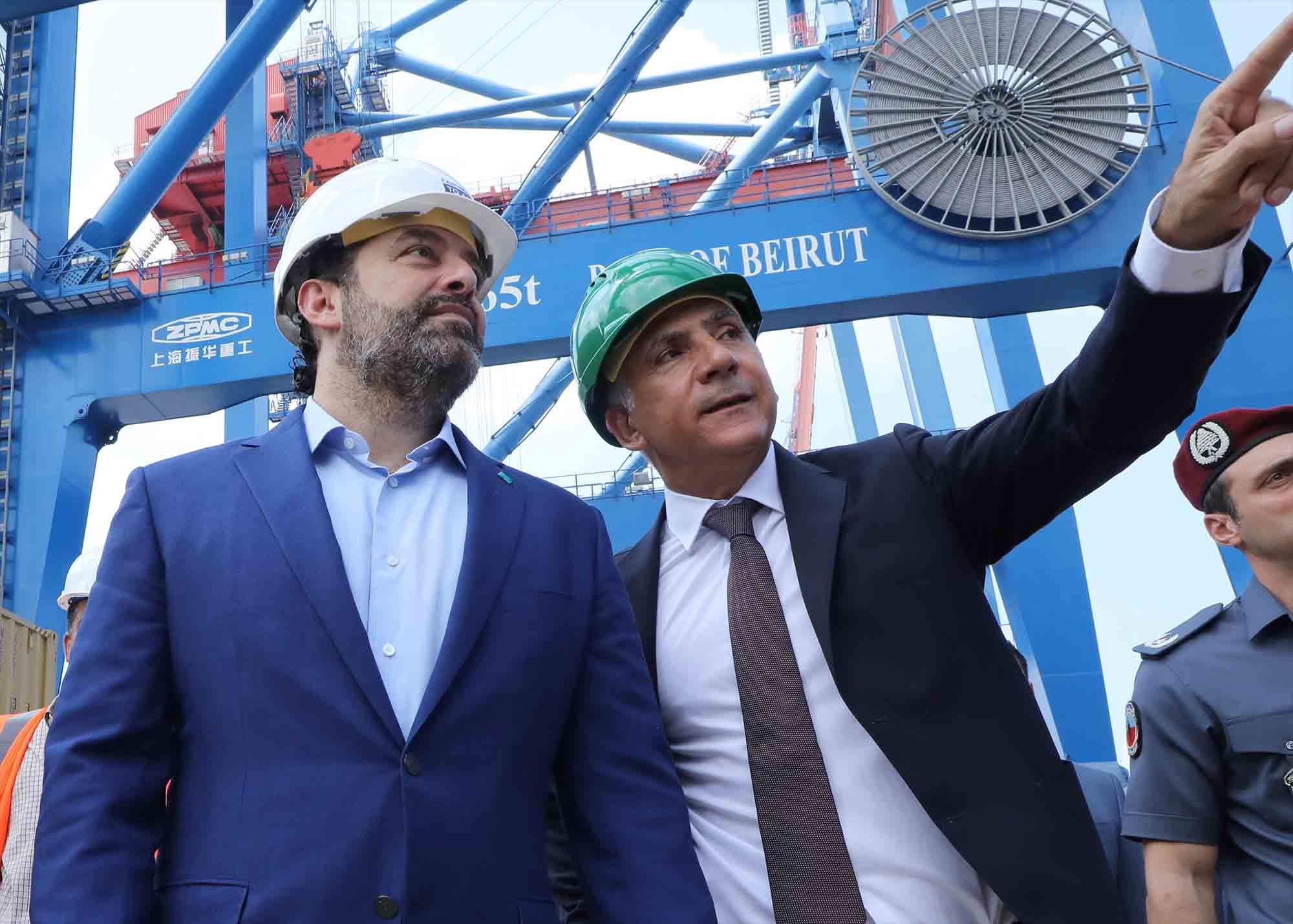 L'ancien premier ministre Saad Hariri en compagnie de l'ancien directeur du port de Beyrouth Hassan Koraytem, le 6 septembre 2020. Crédit photo: Dalati & Nohra