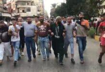Une manifestation d'islamistes à Tripoli contre les caricatures de Charlie Hebdo, le 24 octobre 2020. Crédit Photo: NNA