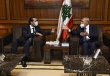 La réunion entre le Président de la Chambre Nabih Berri et le premier ministre désigné Saad Hariri. Crédit Photo: Parlement Libanais