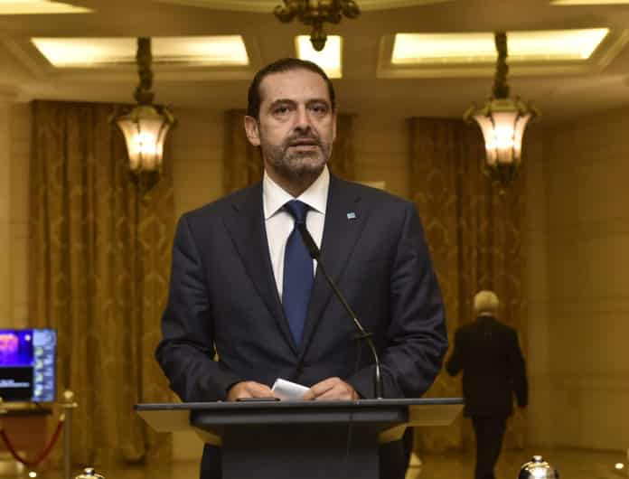 Prime Minister-designate Saad Hariri following parliamentary consultations on October 23, 2020. Photo credit: Lebanese Parliament
