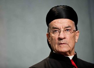 Cardinal Bechara Boutros Rai Patriarche Maronite Antioche Orientd Conference Presse Rome 2014 0 728 485