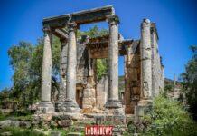 Le temple romain de Bziza. Crédit Photo: François el Bacha, pour Libnanews.com. Tous droits réservés.