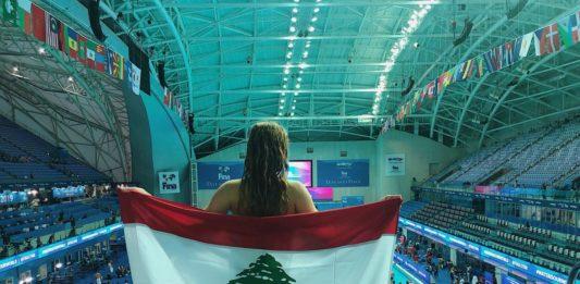 La nageuse Marie Khoury. Source photo: Facebook